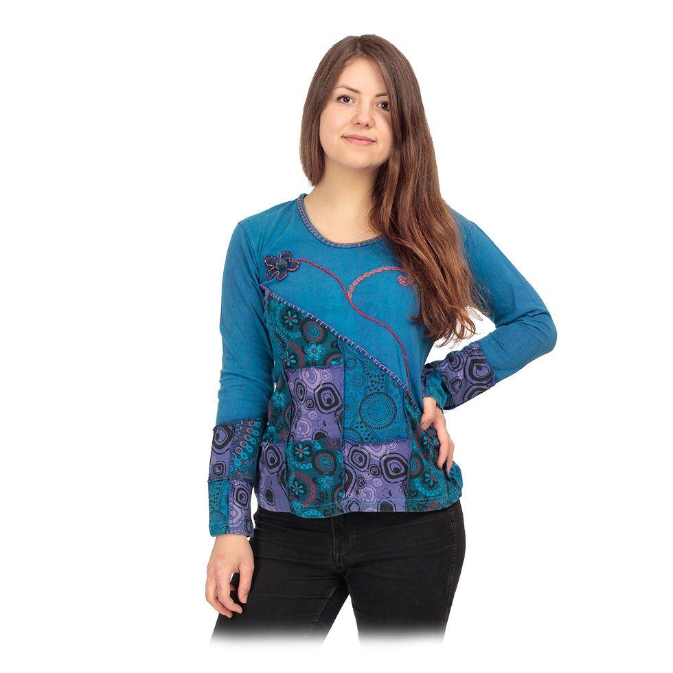 Ethno top / blouse Rafia Biru Nepal