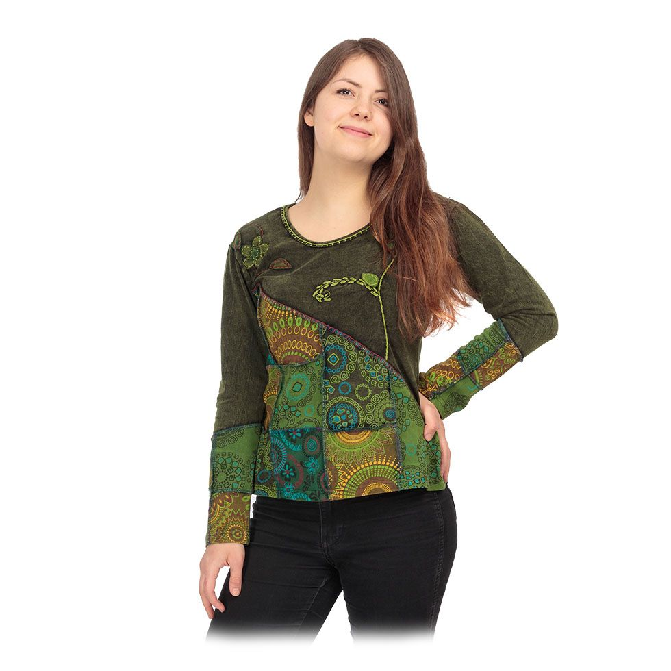 Ethno top / blouse Rafia Hijau Nepal