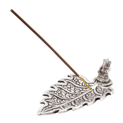 Incense holder Ganesha on a leaf