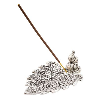 Incense holder Elephant on a leaf