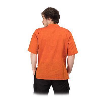 Kurta Pendek Jeruk – men's shirt with short sleeves Nepal