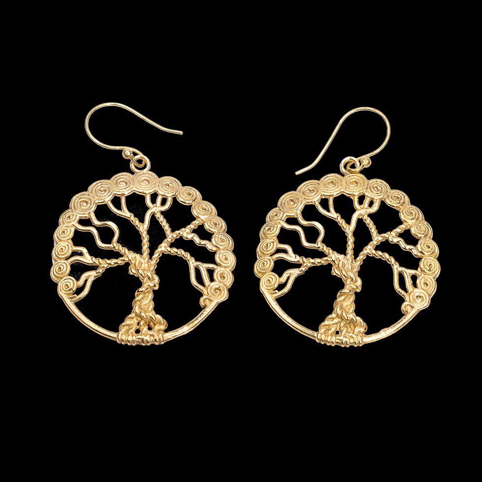 Brass earrings Tree of Life