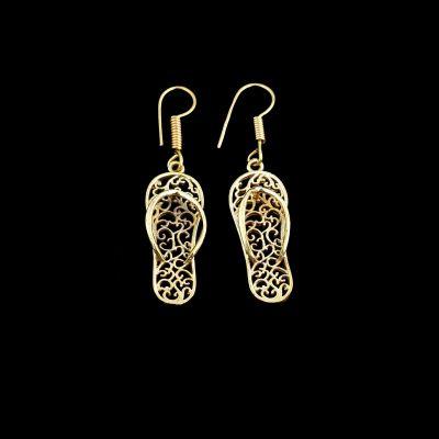 Brass earrings Flip Flops 2