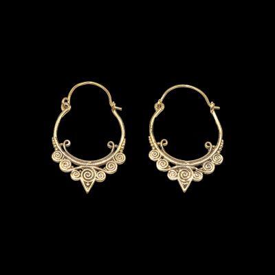 Brass earrings Indirah