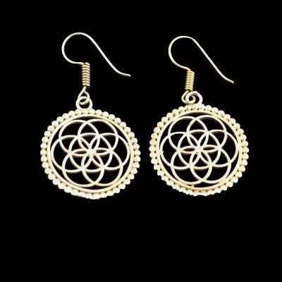 Brass earrings Lina 2