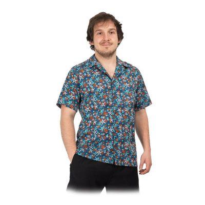 "Men's ""Hawaiian shirt"" Blue Sea India"