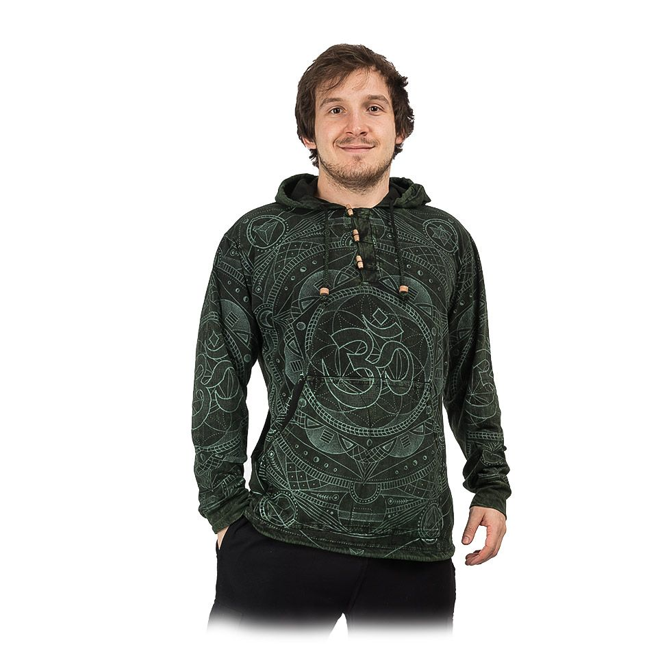 Men's hooded tricot Baskar Hijau Nepal