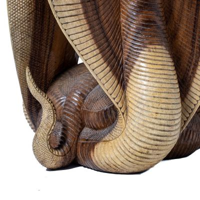 Hand-carved wooden table Cobras Indonesia