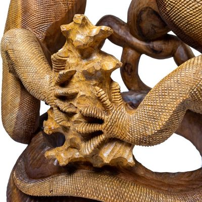 Hand-carved wooden table Comodo Dragons Indonesia