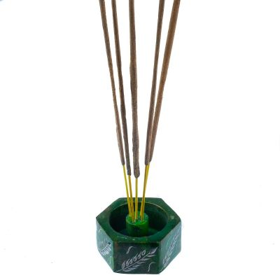 Incense holder Corn Spikes – green