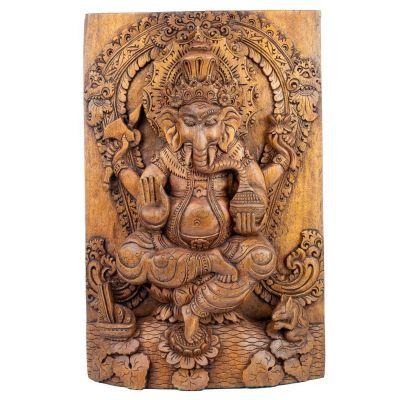 Carved wooden sculpture Ganesha