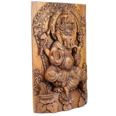Carved wooden sculpture Ganesha Indonesia