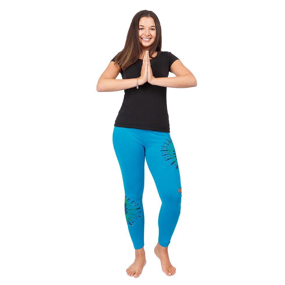 Tie-dye leggings with openwork Katuru Blue Nepal