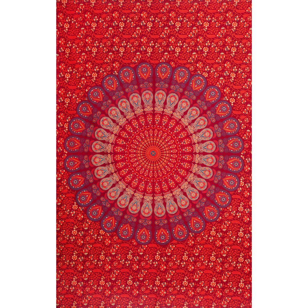 Cotton bed cover Indian Adventure