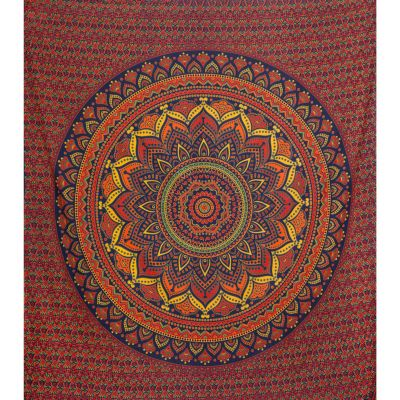 Cotton bed cover Lotus mandala – large