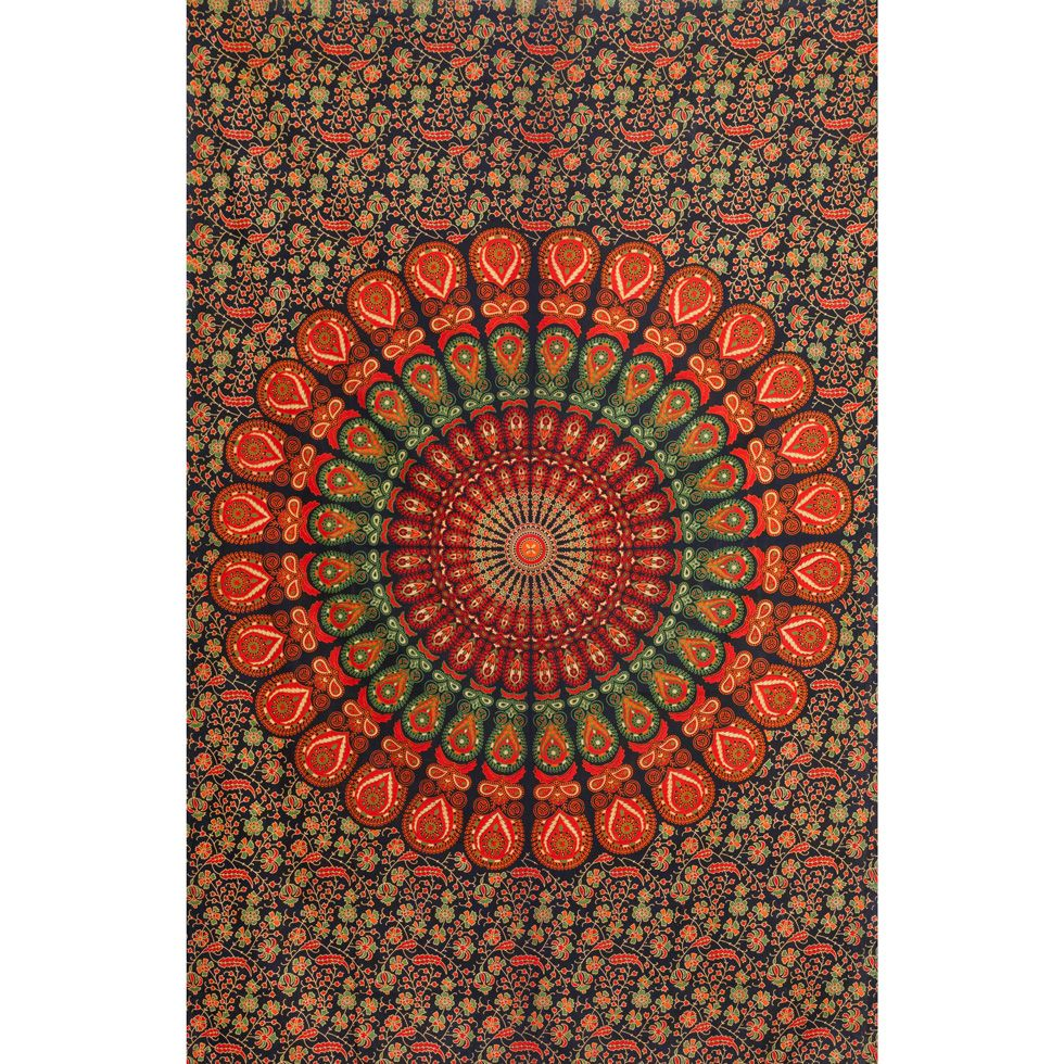 Cotton bed cover Magical Summer India