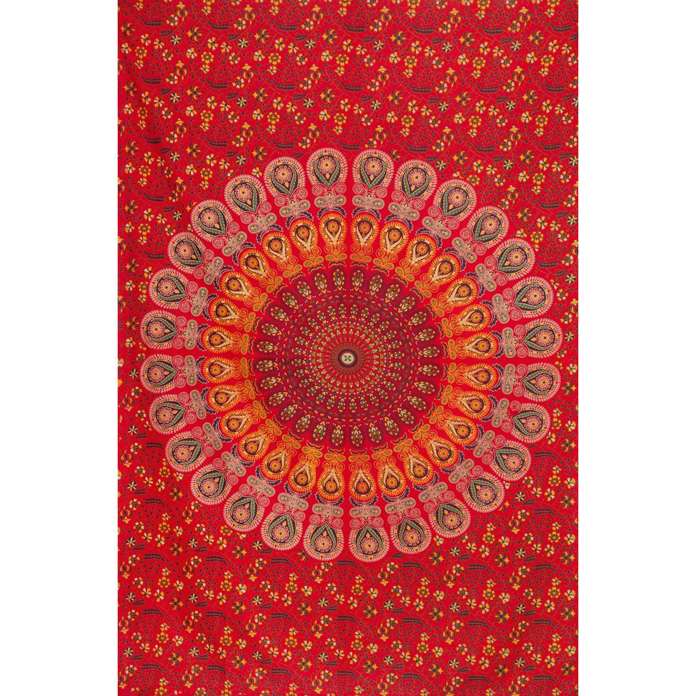 Cotton bed cover Destined Love India