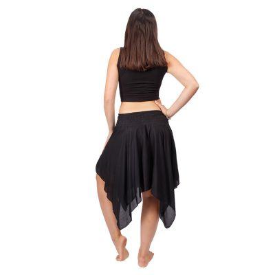Pointed skirt with elastic waist Tasnim Black Nepal