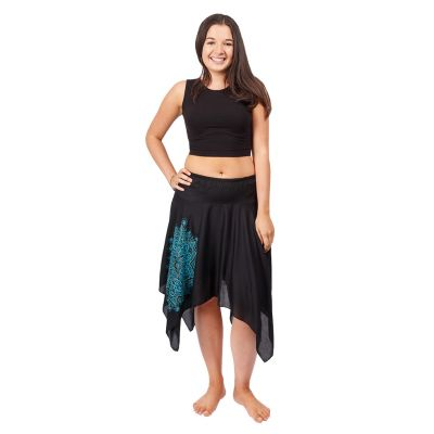 Pointed skirt with elastic waist Tasnim Black | S/M, L/XL