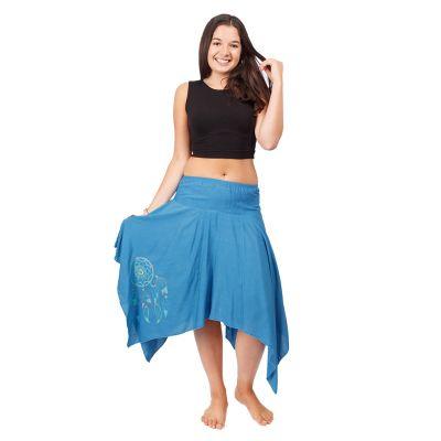 Pointed skirt with elastic waist Tasnim Blue | S/M, L/XL
