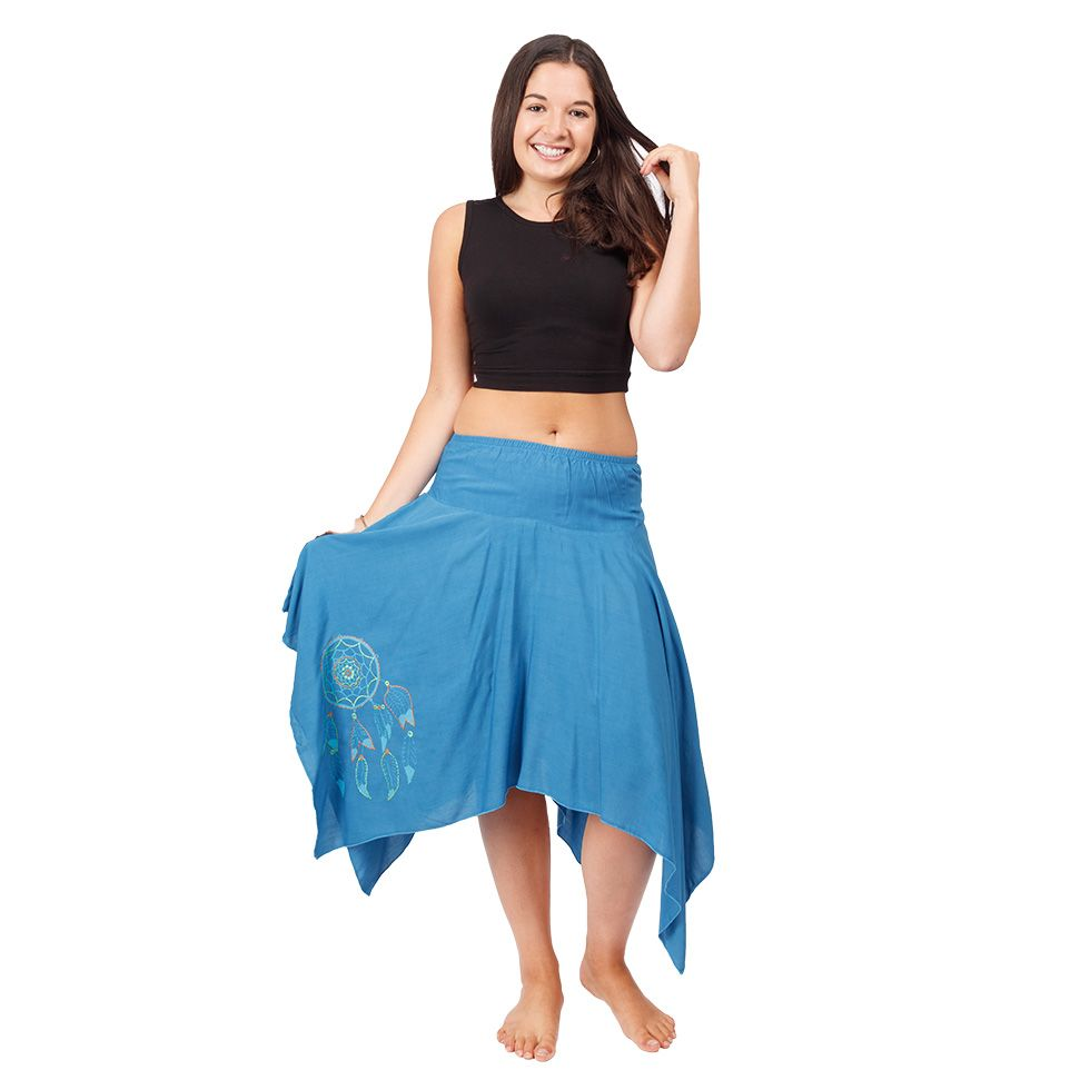 Pointed skirt with elastic waist Tasnim Blue Nepal