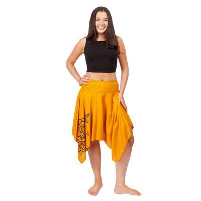 Pointed skirt with elastic waist Tasnim Mustard | S/M, L/XL
