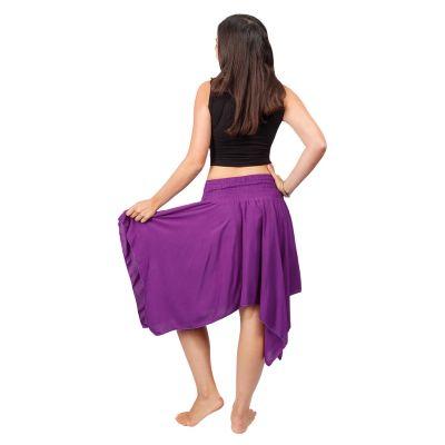 Pointed skirt with elastic waist Tasnim Purple Nepal