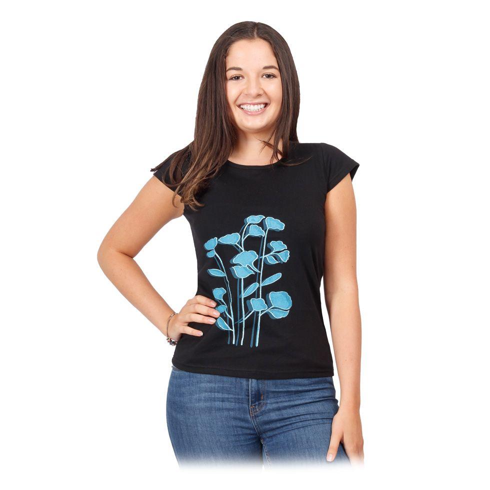 Women's ethno t-shirt with short sleeves Bayou Nepal