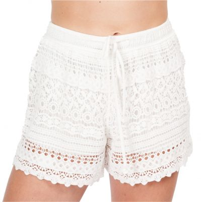 Women's crocheted shorts Wassana Boreh White | UNI