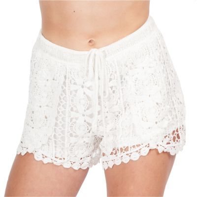 Women's crocheted shorts Wassana Tapakan White | UNI, with string, UNI, without string