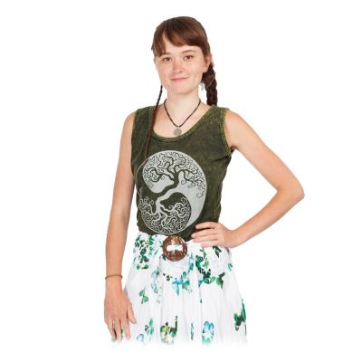 Women's tank top Yin&Yang Tree Green | S, M, L, XL, XXL