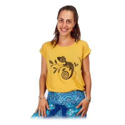 Short sleeve lady T-shirt Darika Chameleon Yellow   UNI