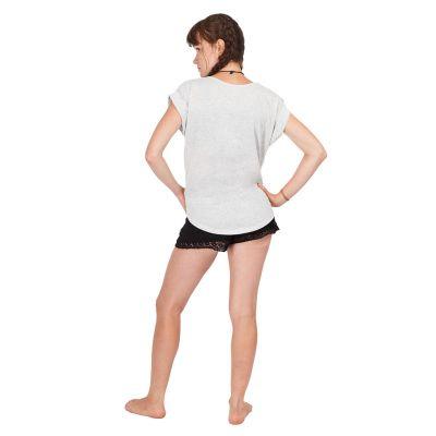 Women's t-shirt with short sleeves Darika Mandala Greyish Thailand