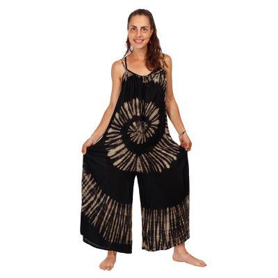 Long tie-dye jumpsuit Sonali Black | UNI