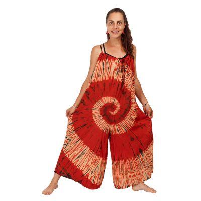 Long tie-dye jumpsuit Sonali Red | UNI