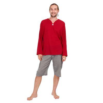 Kurta Abiral Burgundy - men's shirt with long sleeves | M, L, XL, XXL