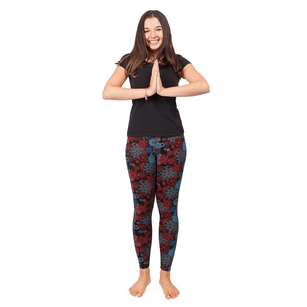Printed leggings Aravind Black Nepal