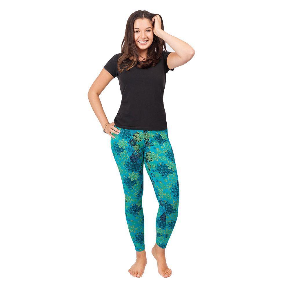 Printed leggings Aravind Blue Nepal