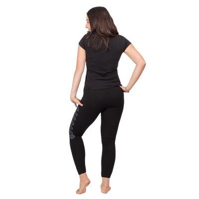 Printed leggings Chakras Black | S/M, L/XL