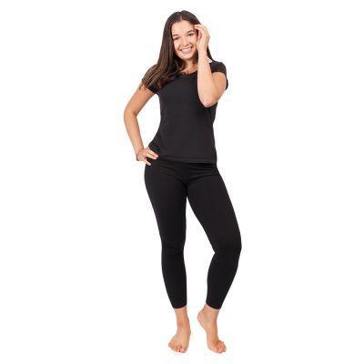 Printed leggings Chakras Black Nepal