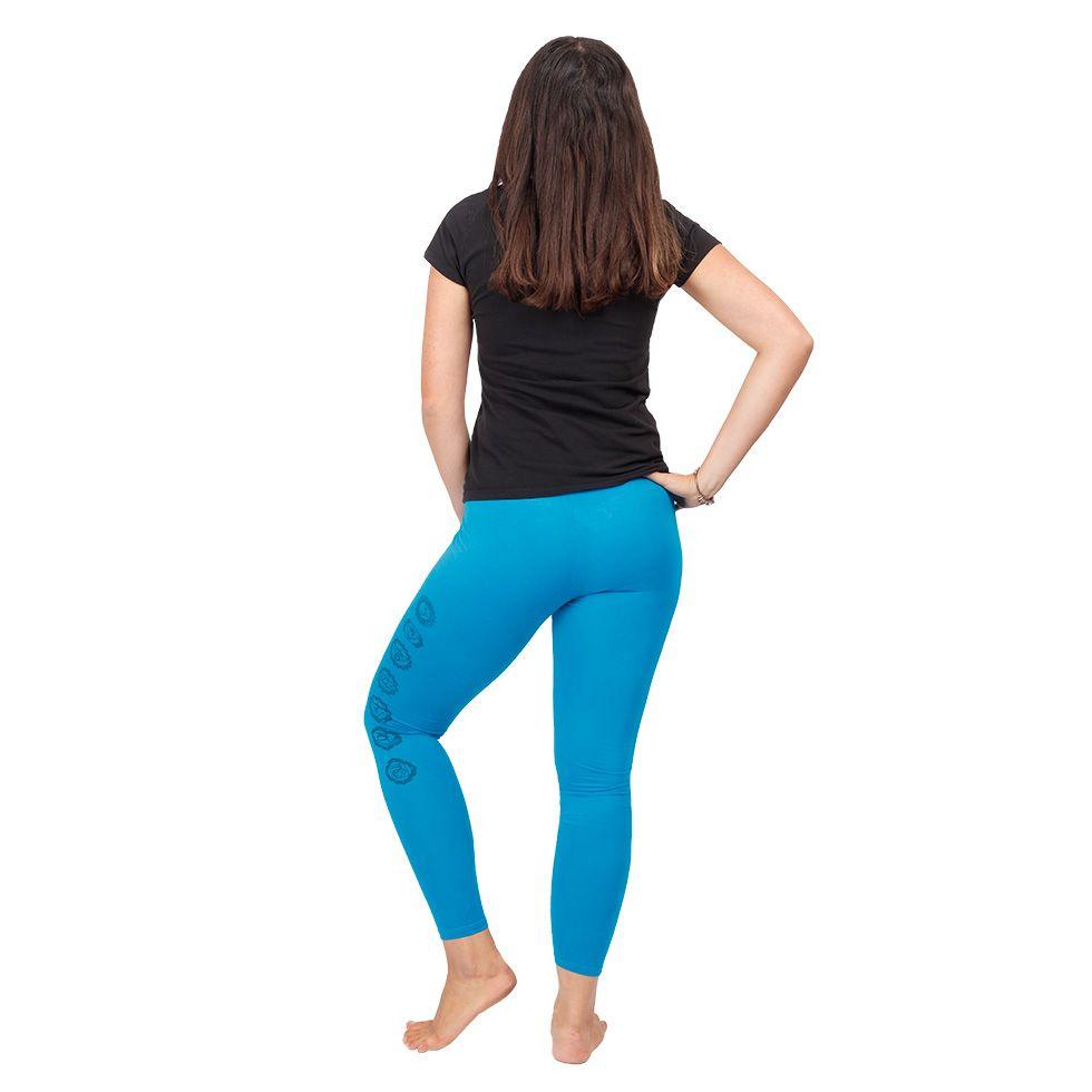 Printed leggings Chakras Blue Nepal