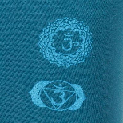 Printed leggings Chakras Petrol Blue Nepal