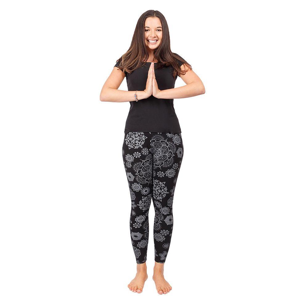 Printed leggings Mandala Black Nepal