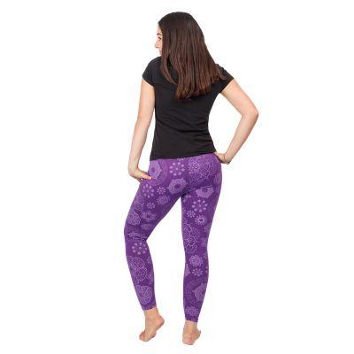 Printed leggings Mandala Purple Nepal