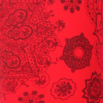 Printed leggings Mandala Red Nepal