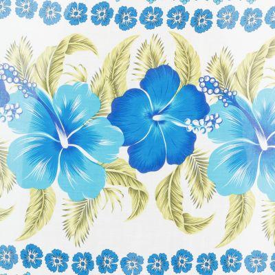 Sarong / pareo Hibiscus Blue Thailand