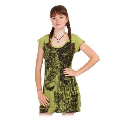 Dress Sure Buddha's Butterflies Green   S, M, L, XL