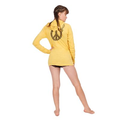 Women's hooded t-shirt Sure Dove of Peace Yellow Thailand