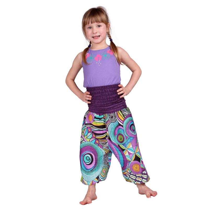 Children trousers Purple Love