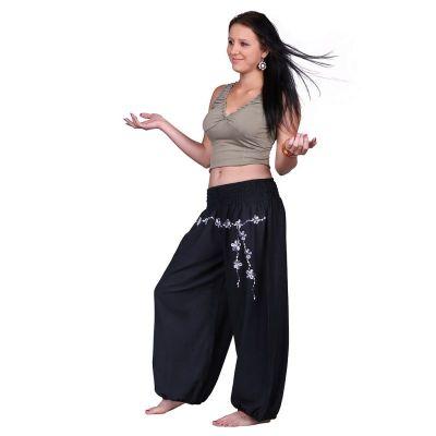 Embroidered trousers Sabuk Hitam